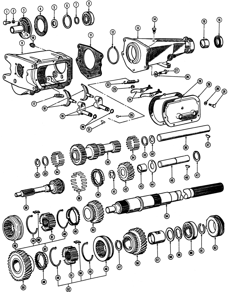 exploded view of 2005 pontiac aztek manual gearbox
