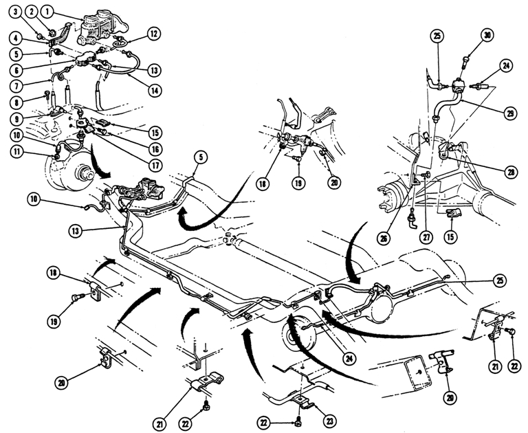 Chevrolet Front Brake Diagram