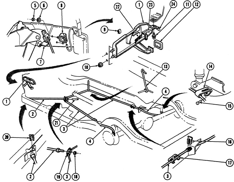 1969 Chevrolet Nova Emergency Brake Diagram