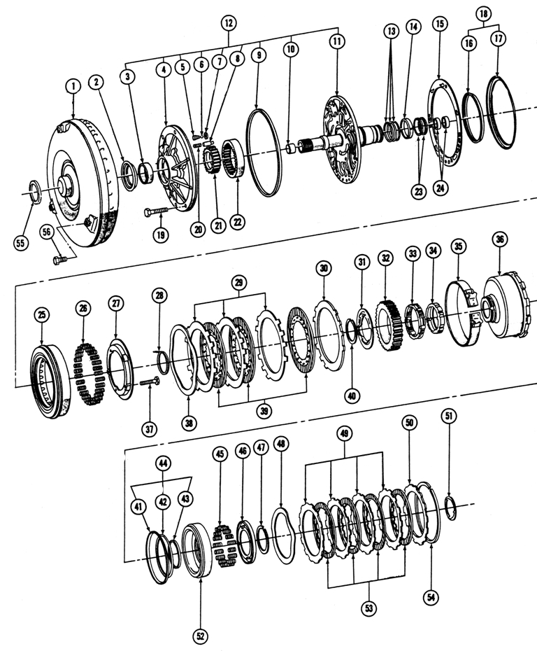 turbo 400 transmission parts diagram