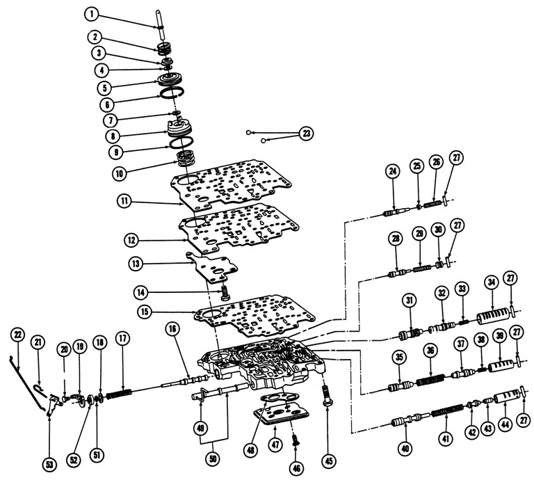 Pontiac 350 Transmission Diagram