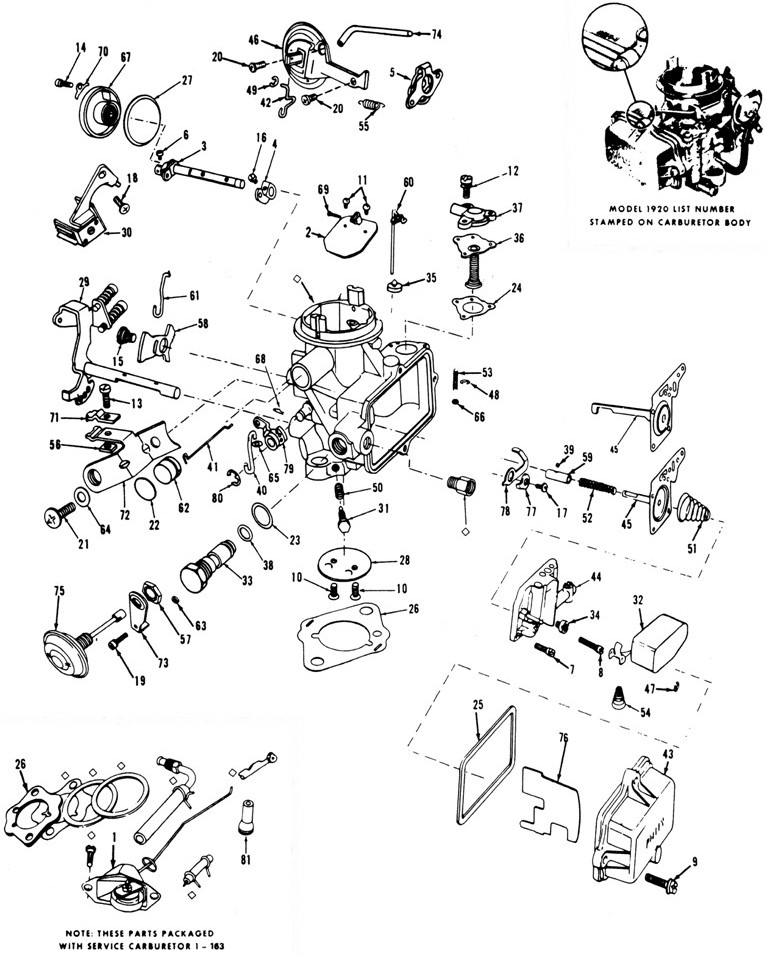 Holley 1920 Exploded Diagrams