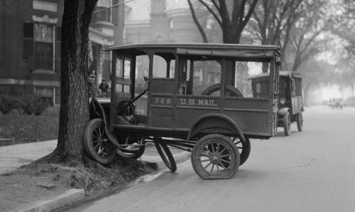 1934 postal truck and tree