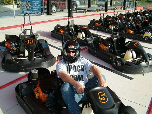 Me in a go-cart