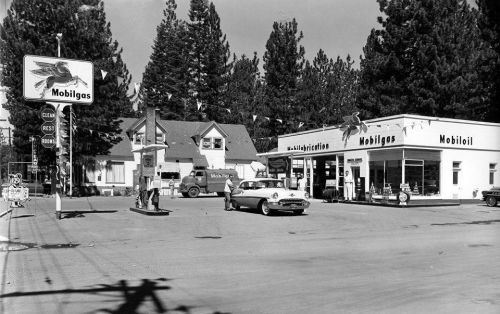 Old time gas station