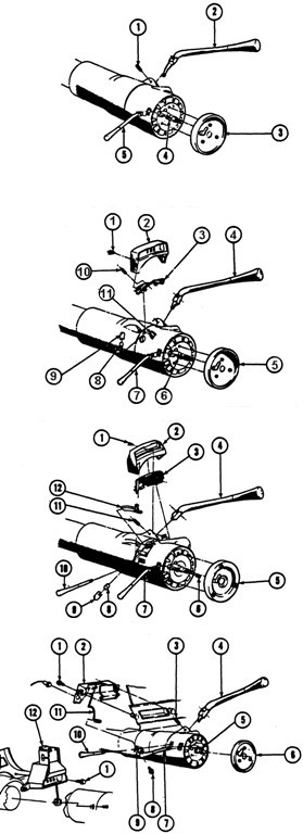 1969-72 Pontiac Upper Gearshift Levers Exploded View