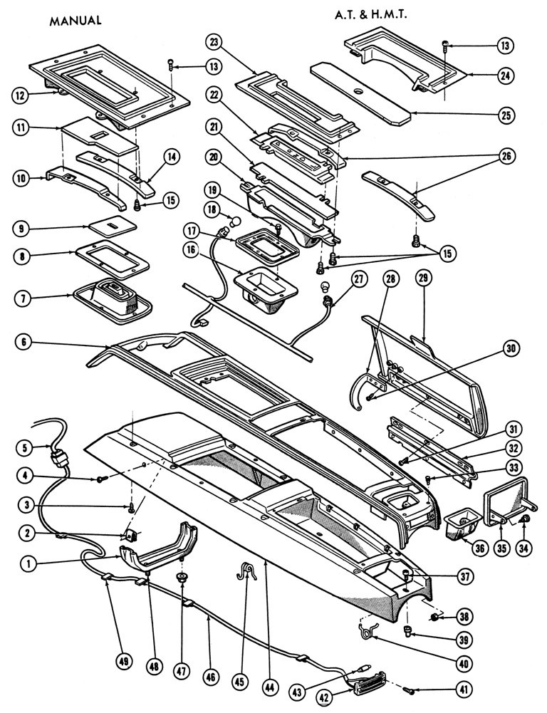 Floor Sheetmetal Brake Parts Diagram 1967 Firebird Console
