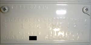 1964 Dodge Body Data Plate