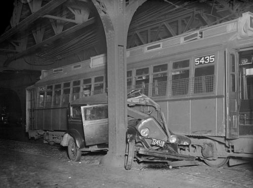 1934 train and car