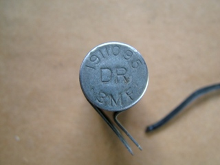 Condenser part number stamp