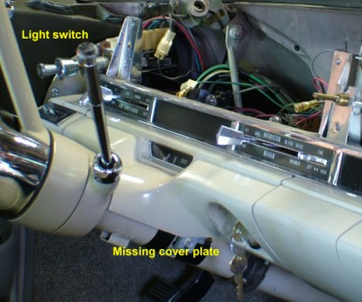 62 Cadillac Dash Removed