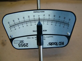 Torque wrench beam scale