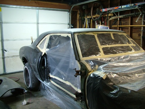 68 Firebird taped for paint