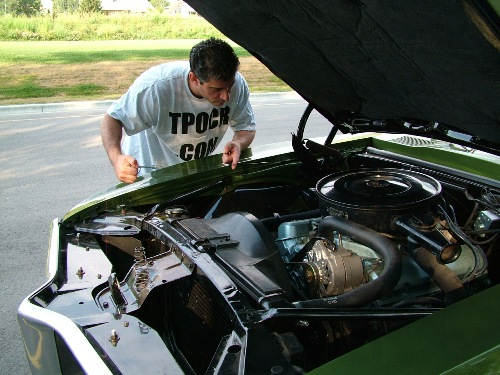 68 Firebird Checking The Oil