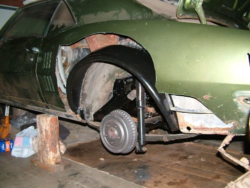 68 Firebird outer wheel house installed