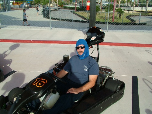 The Slacker in a go cart