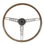 67 Mustang Woodgrain Steering Wheel Assembly