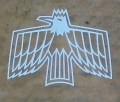 68-69 Firebird Door Window Assy RH w/Bird Stencil