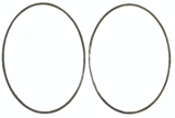 67-68 Firebird Instrument Carrier Mylar Trim Rings